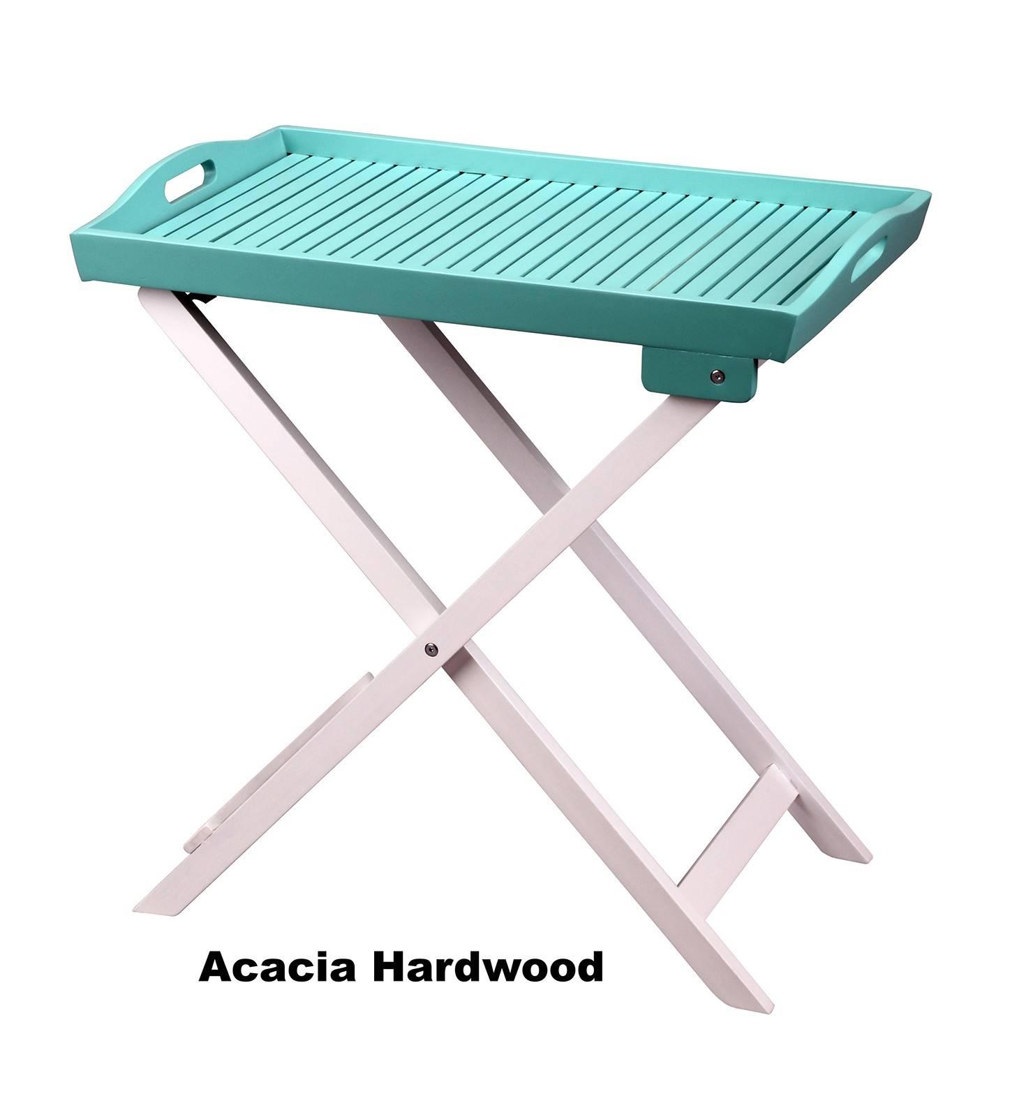 Hardwood Butlers Tray - Turquoise