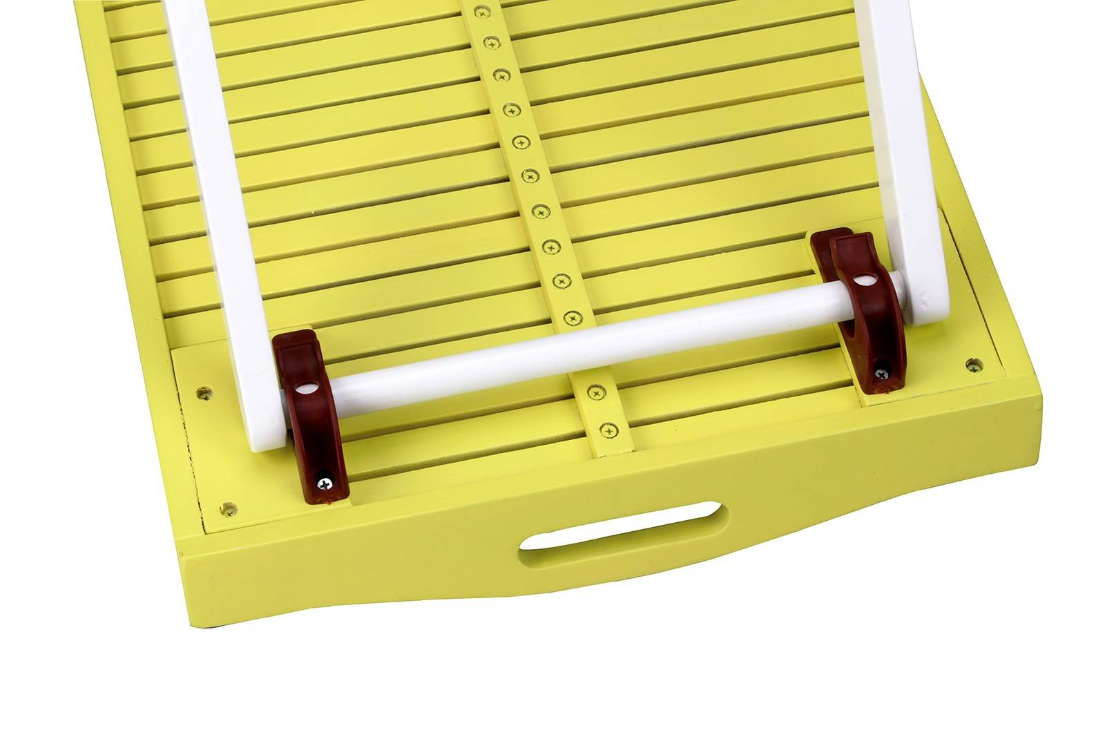 Hardwood Butlers Tray - Yellow