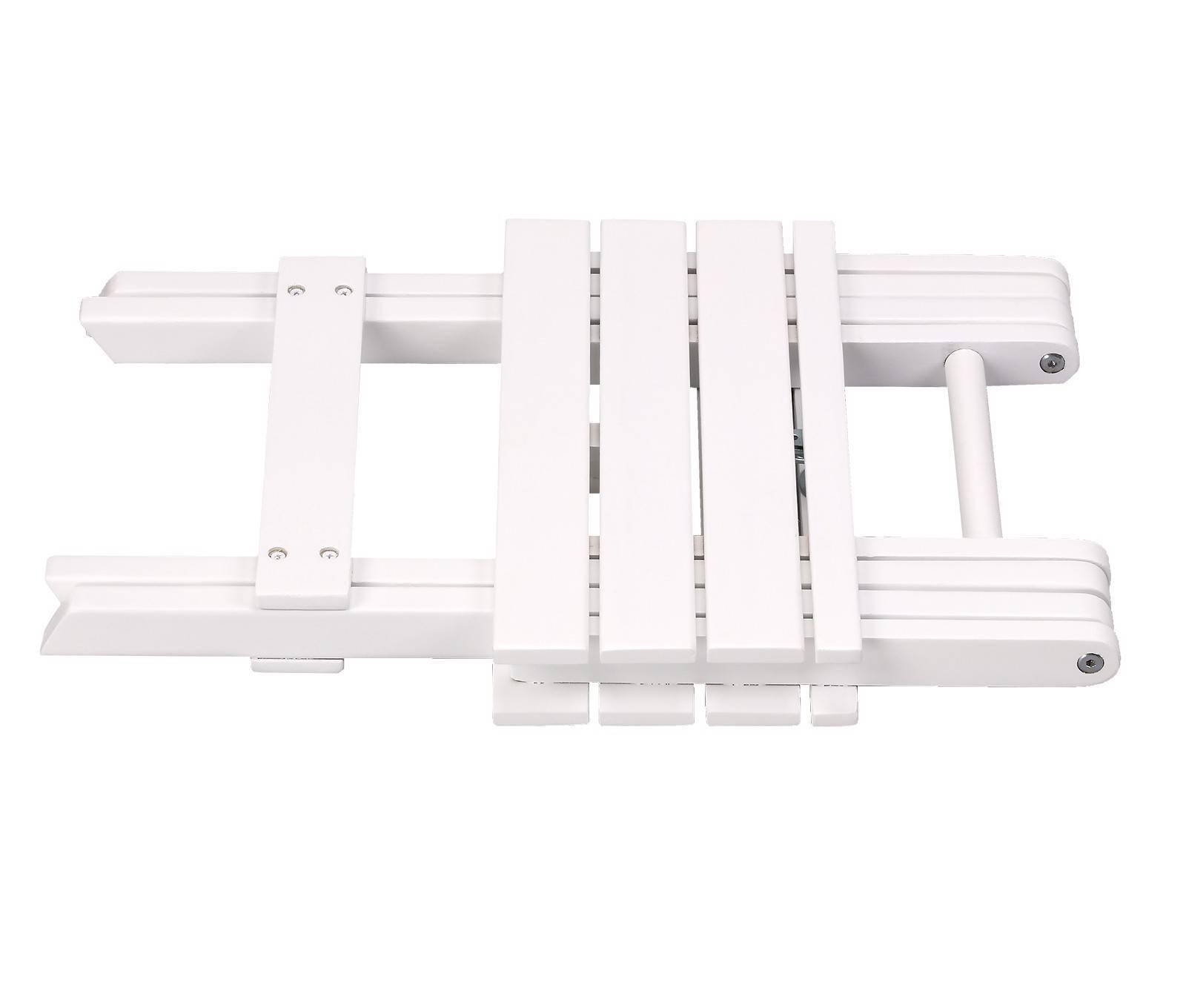 Square table, Acacia Hardwood Folding, White colour