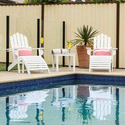 Outdoor Furniture Cape Cod Chair Set - Fold / Solid Timber Acacia Hardwood