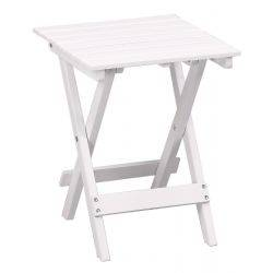 Square table, Acacia Hardwood Folding, White colour